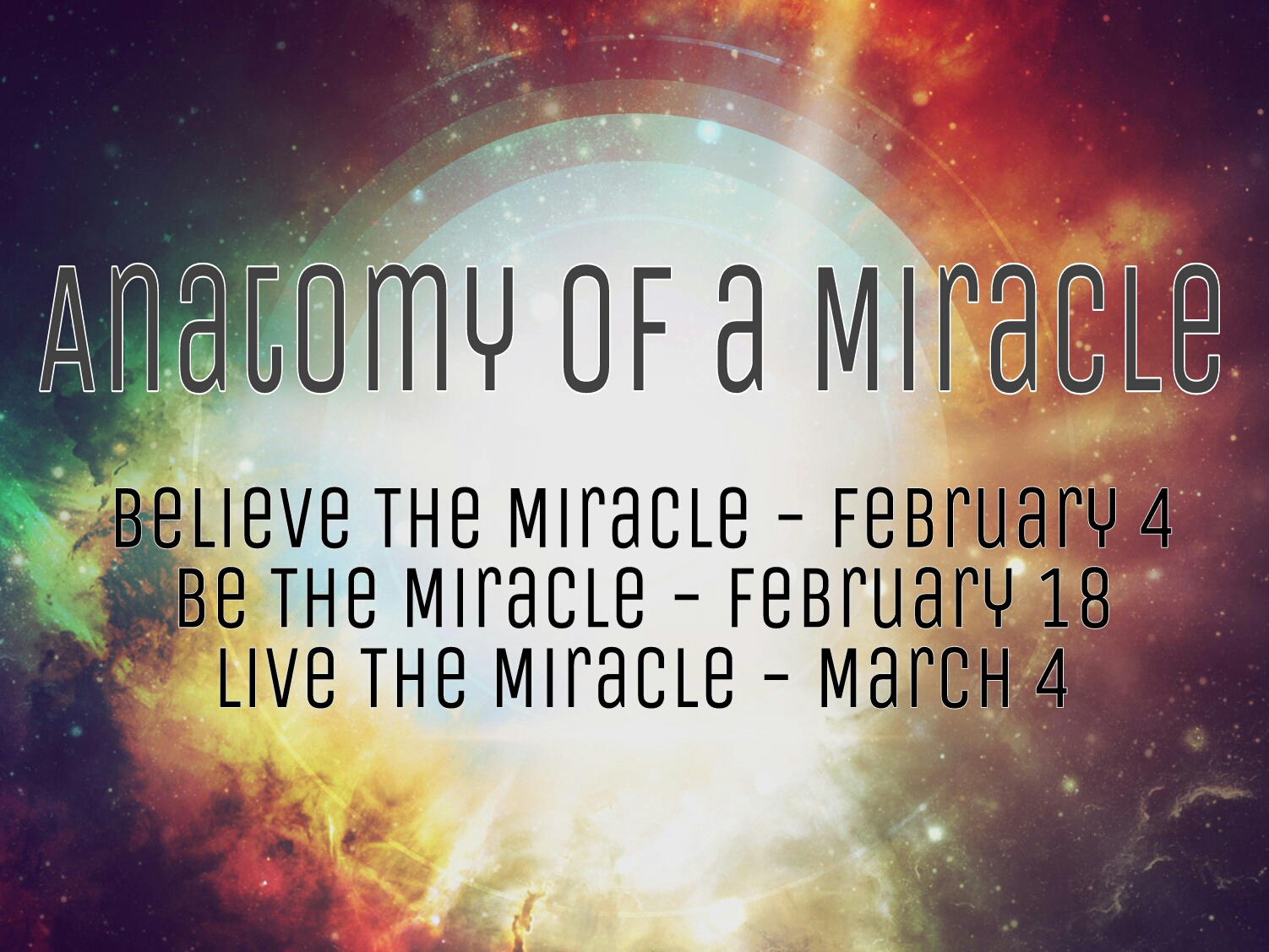 Anatomy Of A Miracle Series The Bridge Ministries